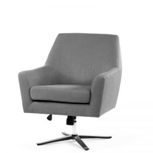 Ava Swivel Chair | Wolf Grey | by Black Mango
