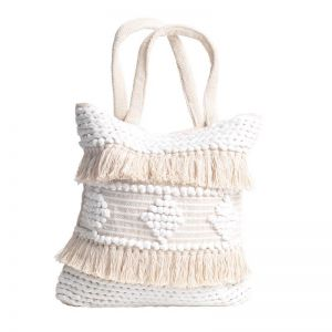 Avalon Bag | White/Natural | BY SEA TRIBE