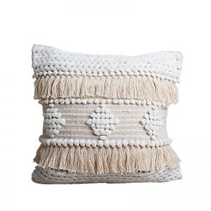 Avalon Boho Cushion | White and Natural | BY SEA TRIBE