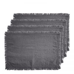 Avani Set of 4 Placemats | 33x48cm | Charcoal