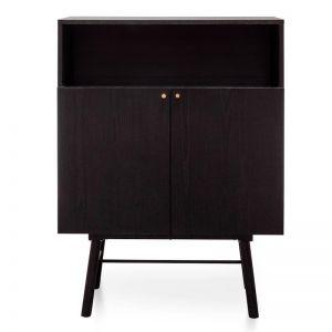 Avante Side Cupboard | Black Veneer | Interior Secrets