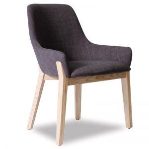 Avenue Chair | Natural Ash Frame with Charcoal Padded Seat