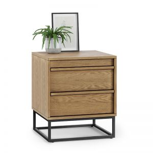 Averi 2 Drawer Bedside Table | Natural Oak