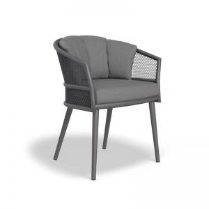 Avila Dining Chair | Charcoal with Dark Grey Cushion