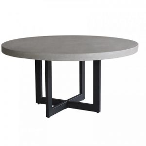 Axel Round ElkStone Dining Table | Grey