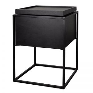Axis Side Table | Black Oak & Black Frame | CLU Living