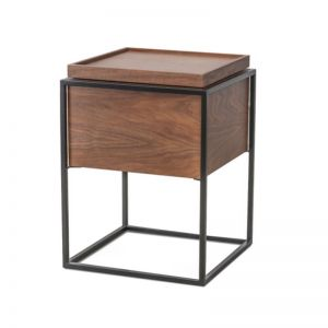 Axis Side Table | Walnut & Black Frame | CLU Living