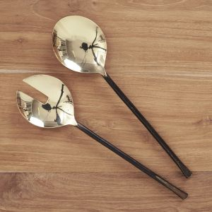 Ayu Brass Salad Servers