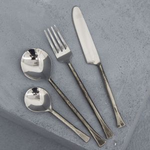 Ayu Silver Flatware Set of 4 l Pre Order