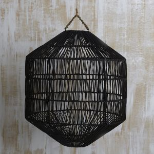 Azin Jute Octagonal Light Shade in Black | Pre Order