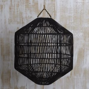 Azin Jute Octagonal Lighting in Black
