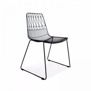 Aztec Wire Stackable Dining Chair Black | Set of 4 | by Black Mango