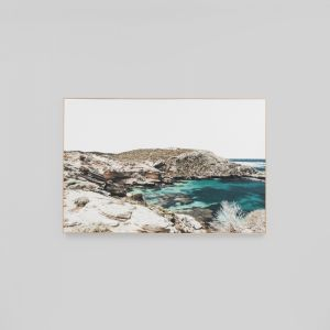 Azure Bay | Framed Canvas Print