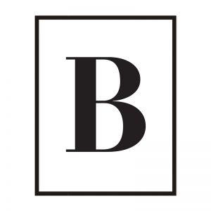 B | Framed Print | Artefocus
