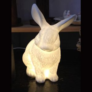 Baby Bunny Lamp Medium - Bone China