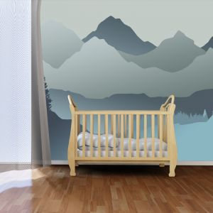Baby Mountain Blue | Full Wall Mural