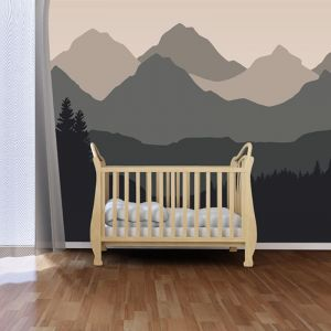 Baby Mountain Natural | Full Wall Mural