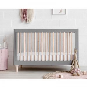 Babyletto | Lolly Cot | Grey & Washed Natural