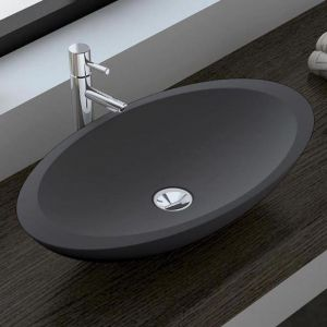 Bahama Matte Grey Solid Surface Basin