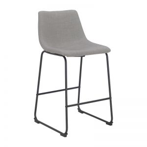 Bailey Bar Stool | Light Grey Fabric