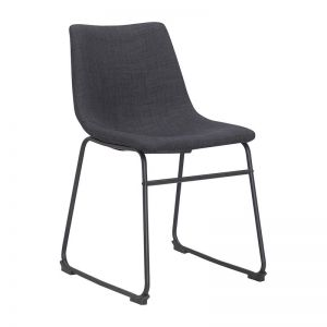 Bailey Dining Chair | Charcoal Fabric