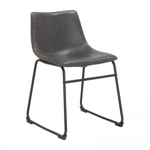 Bailey Dining Chair | Grey Vintage Leatherette
