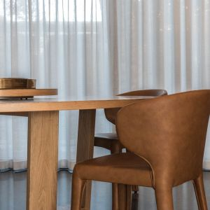 Bailey Dining Chair | PU Tan by SATARA