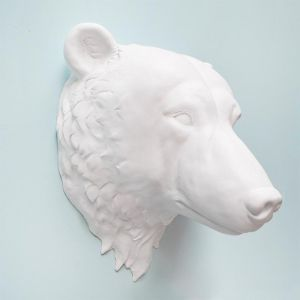 Bailey The Bear Head | White