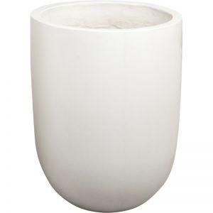 Bali Round 45x60cm Polished Concrete Planter, Bianca White | Schots