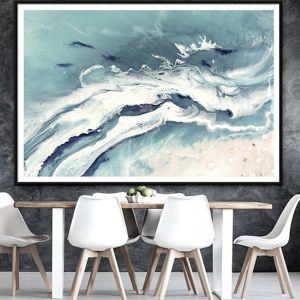 Bali Utopia 2 Grey Neutral Abstract Artwork | Limited Edition Print | Antuanelle