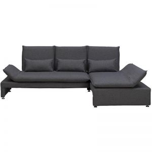 BALTO 3 Seater Sofa with Right Chaise - Dark Grey