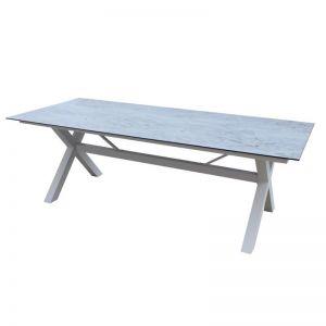 Balwyn Ceramic Outdoor Dining Table | Grey