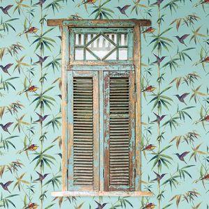 Bamboo & Birds Design   Wallpaper