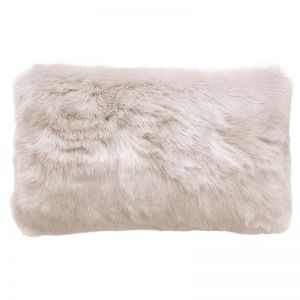 Bambury Faux Fur Cushion | 30 X 50cm | Pebble