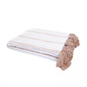 Bambury Sedona Cotton Throw   130cm x 180cm   Fawn