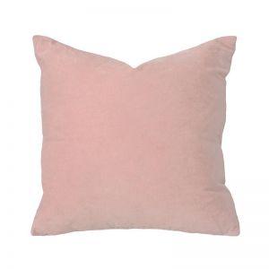 Bambury Velvet Square Cushion | 50 x 50cm | Feather Filled | Rosewater