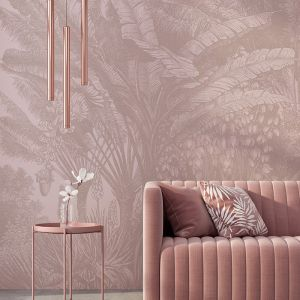 Banana Palm Jungle – Dusty Pink | WALLPAPER