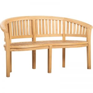 Banana Teak Garden Bench | Raw | Schots