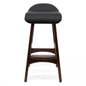 Bar Stool | Erik Buch Replica | Black Seat & Walnut | Interior Secrets