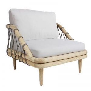 Barbados Single Seat Lounger Grey   by Fifty Shades Interiors