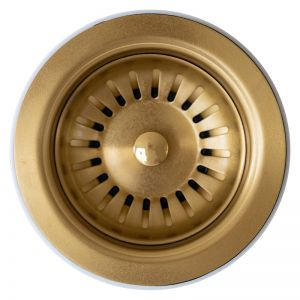 Basket Waste   90x50mm   Brushed Gold PVD   Schots