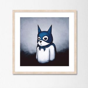 Bat Bear by Luke Chueh | Unframed Art Print