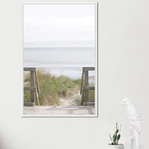 Bay View | Framed Canvas Print