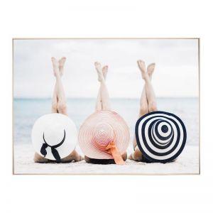 Beach Babes | Framed Canvas Art Print