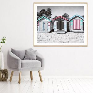 Beach Box | Framed Print | P7024-1 | Colour Clash Studio