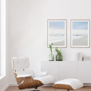 Beach Days #1 & #2 Pair | Framed Giclee Art Prints by Wall Style