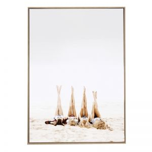 Beach Dolls | Framed Canvas Art Print
