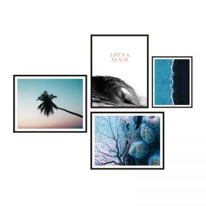 Beach   Framed Print Set   ArteFocus
