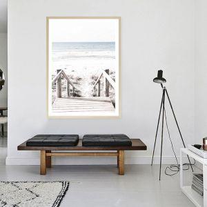 Beach Stairs Photo Art Print (Various Sizes)