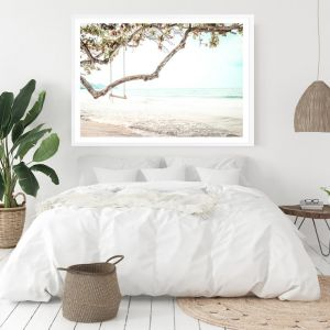 Beach Swing I Photo Art Print (Various Sizes)